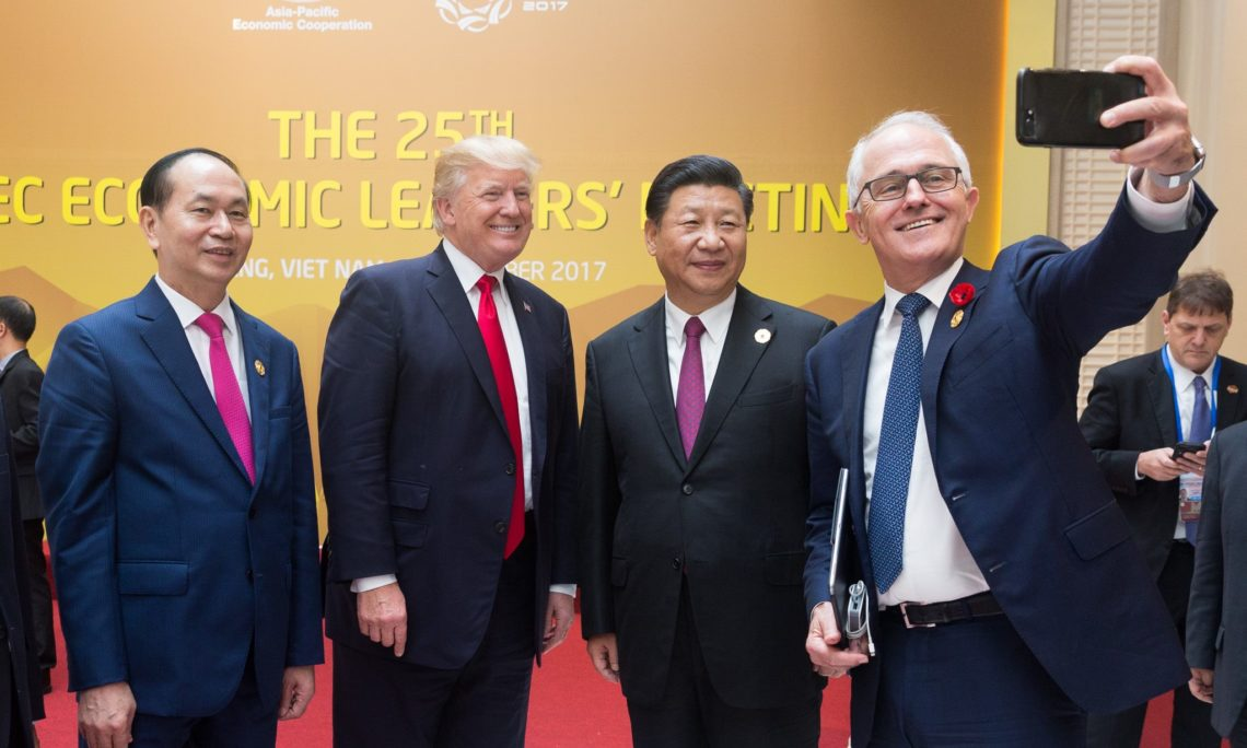 ... Trump's Meeting with Prime Minister Malcolm Turnbull of Australia and  Prime Minister Shinzo Abe of Japan. APEC ...